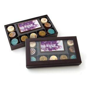 Edible Imprint Chocolate Bar With 9 Truffles