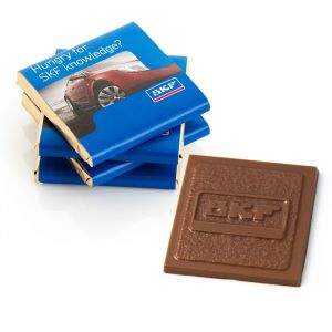 Custom Molded Chocolate Squares -1.75