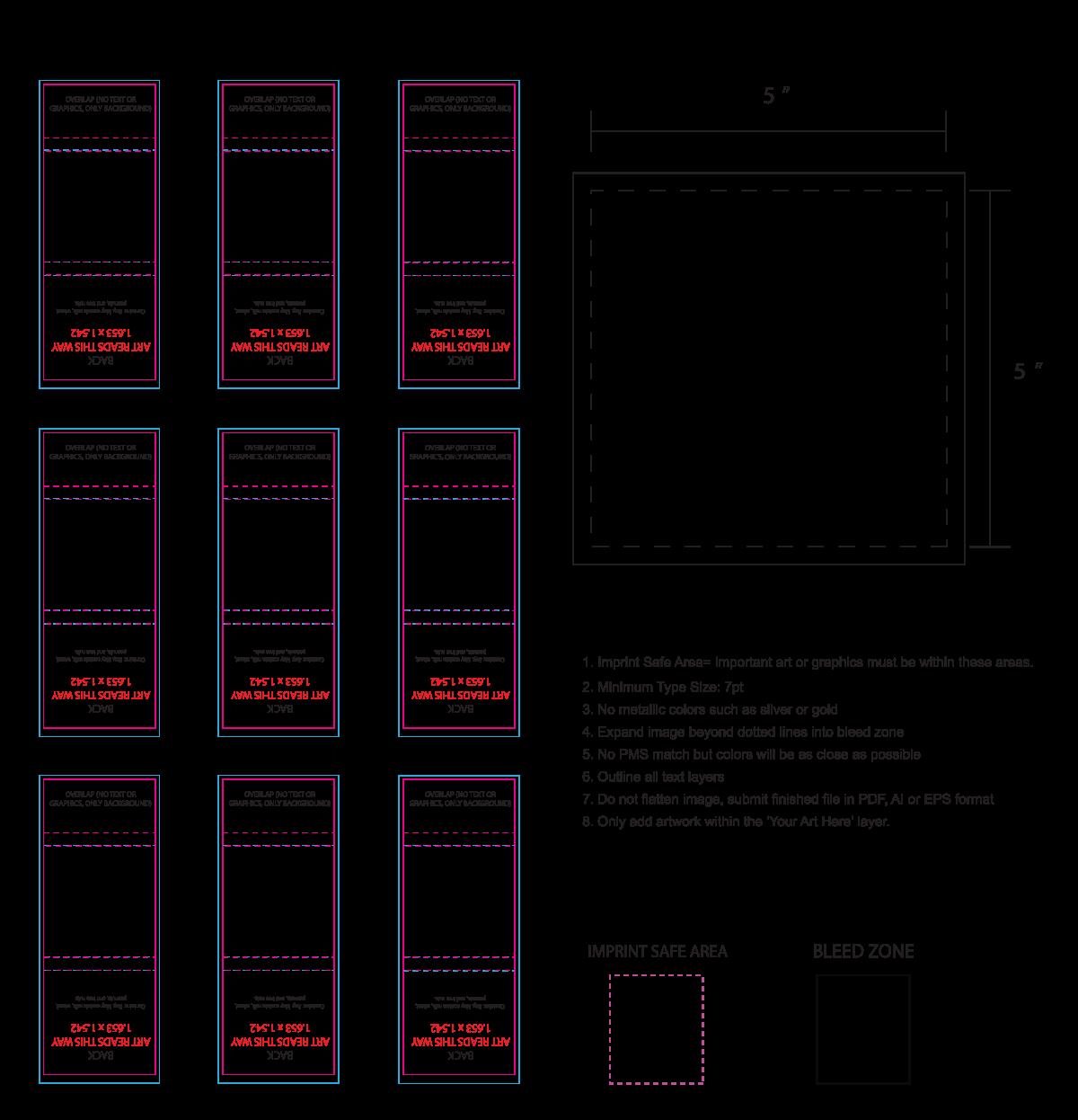 Artwork Layout - Set of 9 large chocolate squares