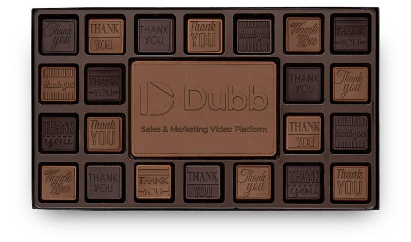 engraved chocolate set