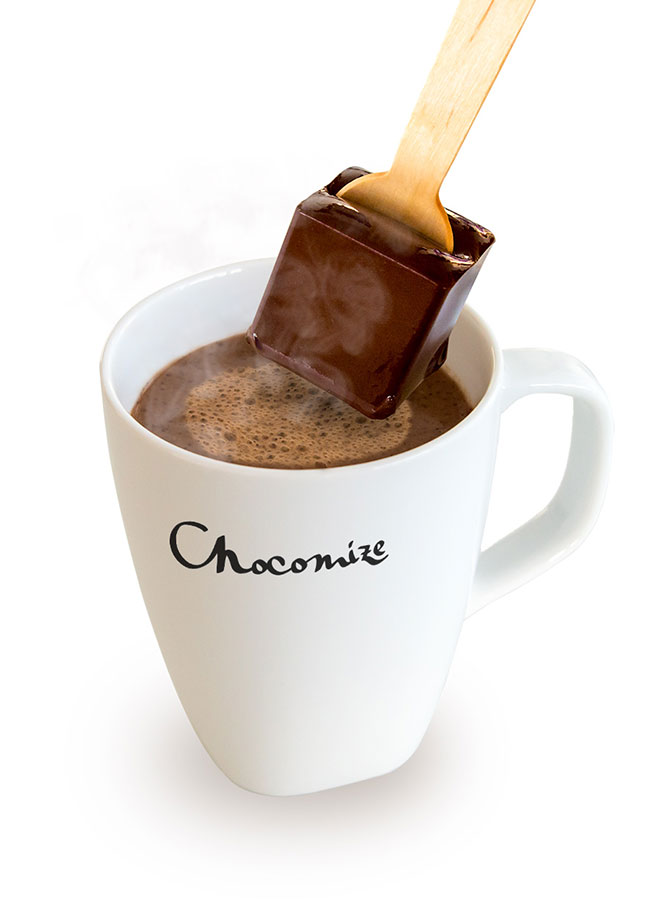 Hot Chocolate on a Stick with Hang Tag