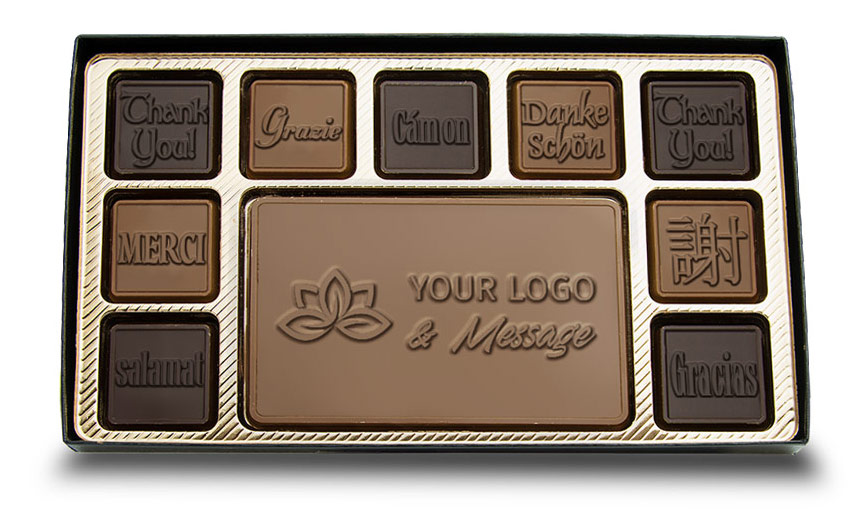 engraved chocolate set