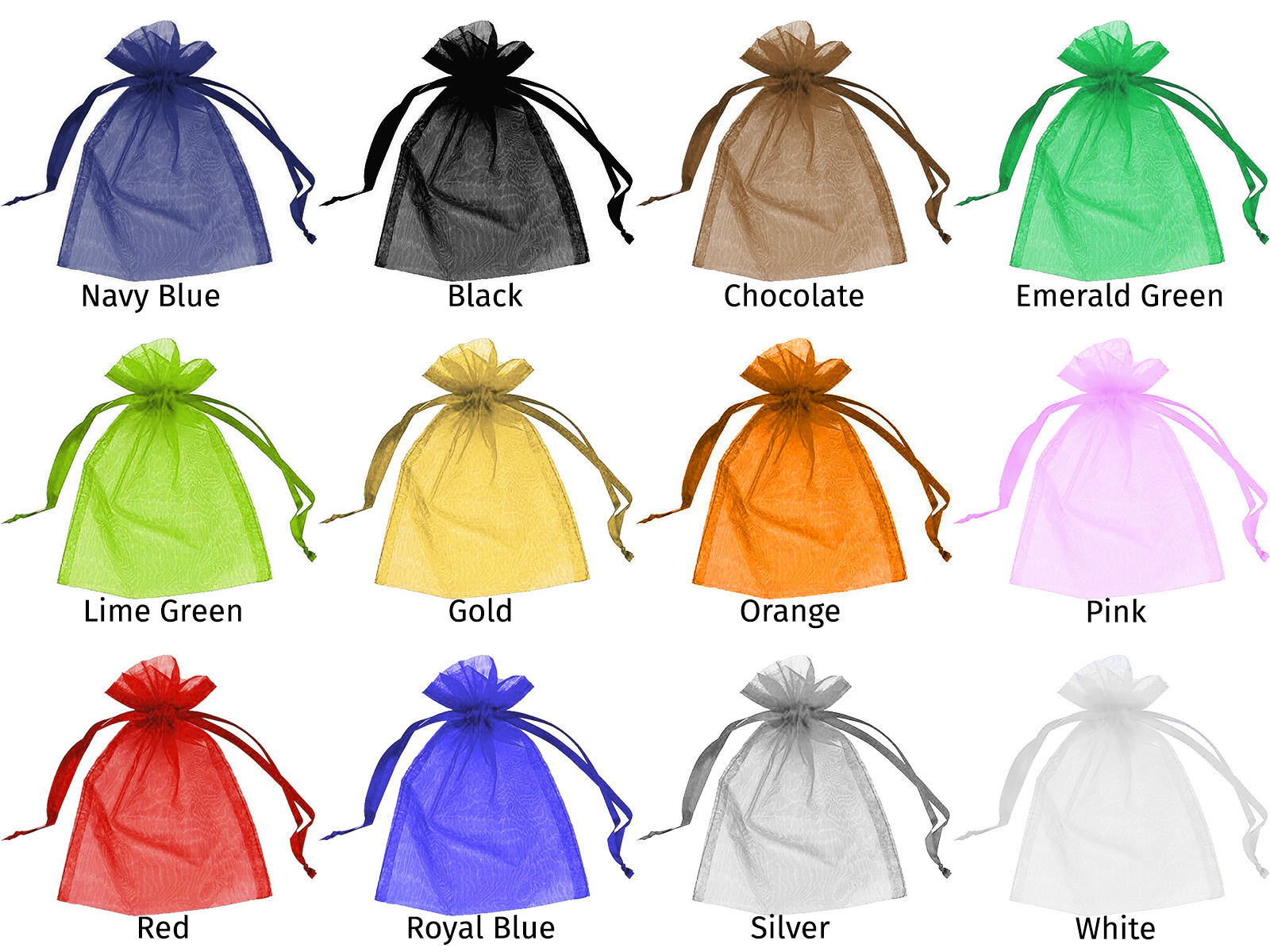 Organza Bag Colors